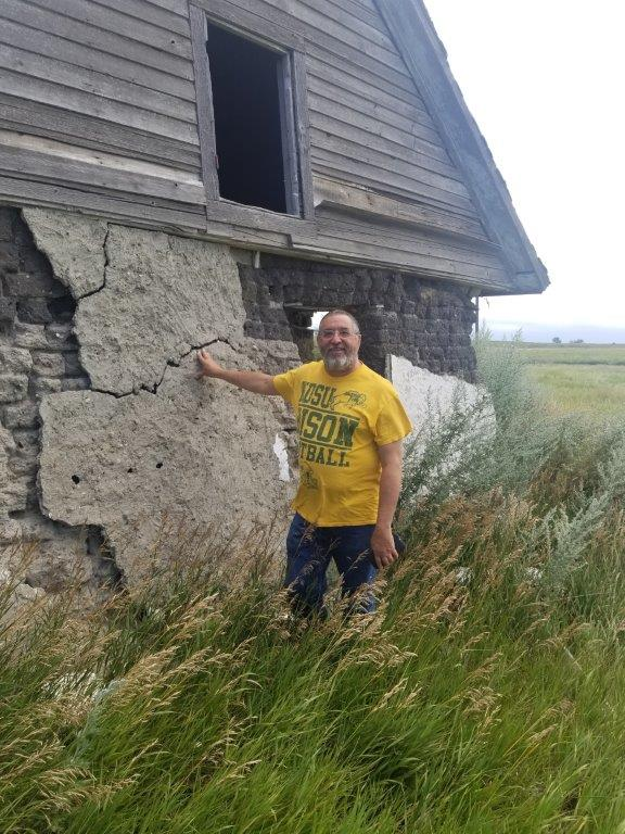 At the Rudolf Bossert sod house south of Mercer in McLean County in 2019
