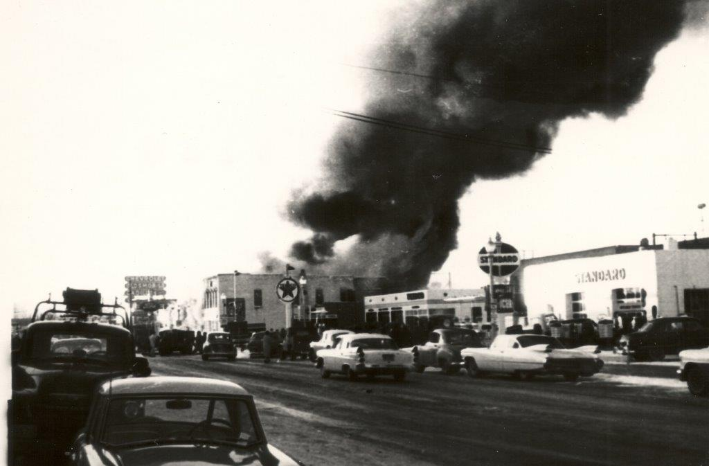 1959 Ford Garage fire in Dickinson